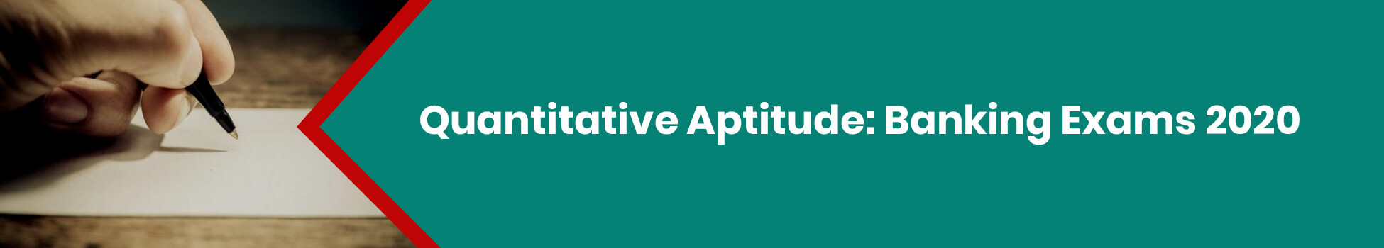 Quantitative Aptitude: Banking Exams 2020