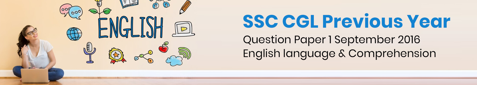 SSC CGL Previous Year Question Paper 1 September 2016 - English language & Comprehension