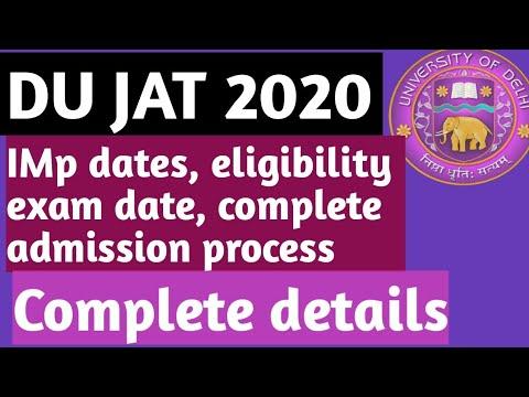 How to crack DU JAT 2020?