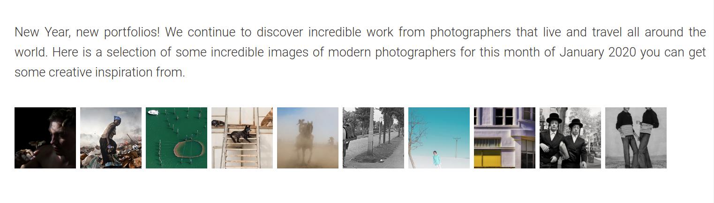 Best Modern Photographers of January 2020