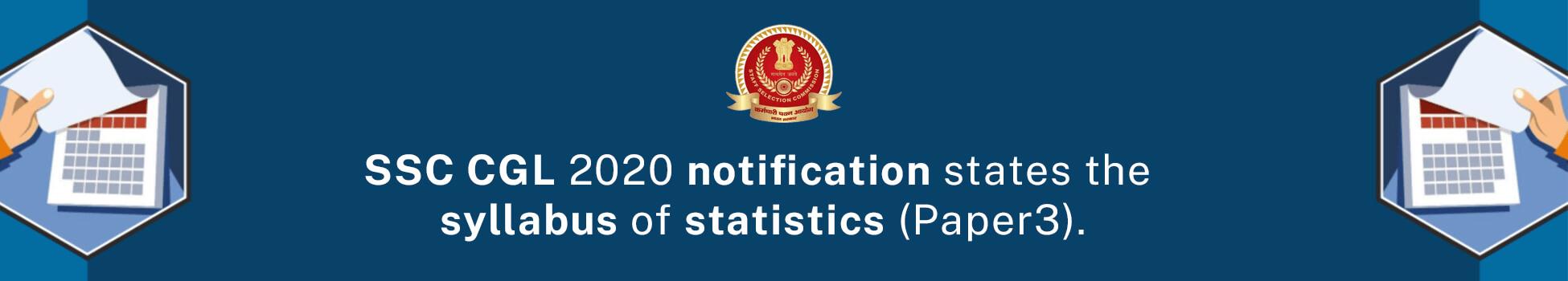 SSC 2020 Exam Syllabus - Paper III Statistics