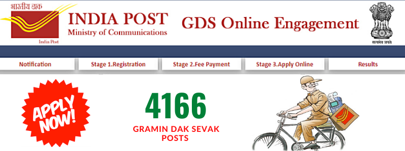 India Post Recruitment 2020 for 4166 Gramin Dak Sevak (GDS)