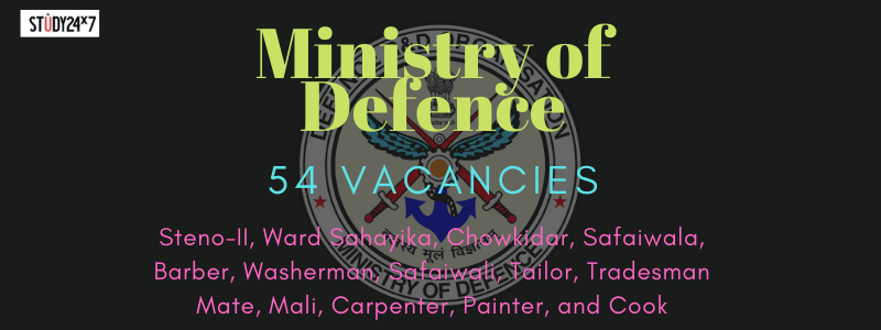 Ministry of DefenceRecruitment 2020