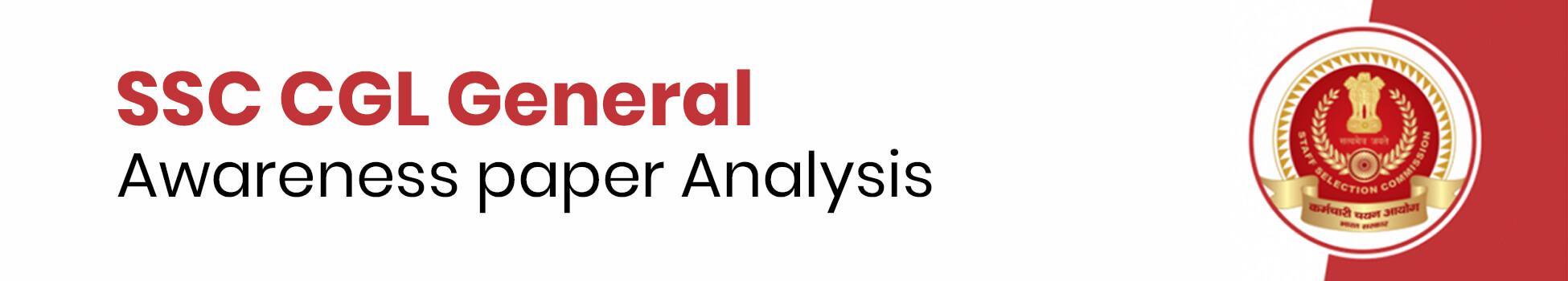 SSC CGL General Awareness paper Analysis
