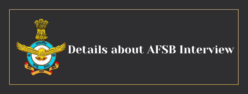 Important Documents to carry for AFSB Interiew