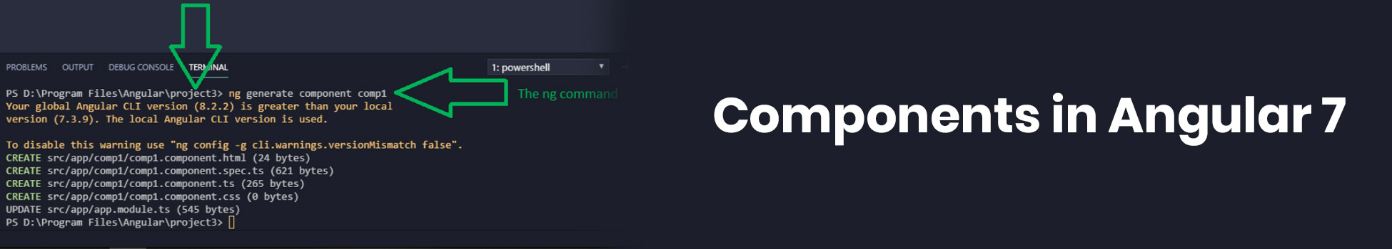 Components in Angular 7