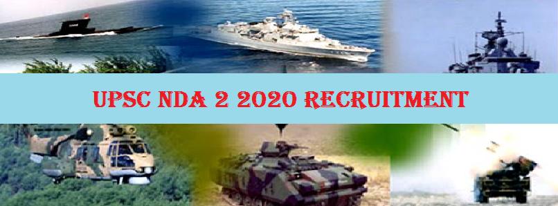 UPSC NDA & NA 2 Recruitment 2020